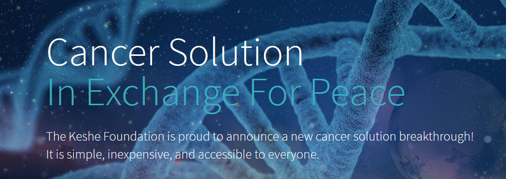 Neue Krebs-Forschung: Cancer Solution in Exchange for Peace