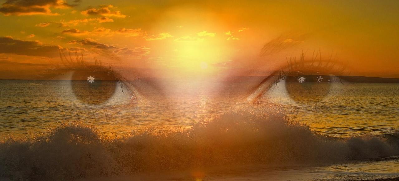 Strahlen in unseren Augen durch Sinnlichkeit