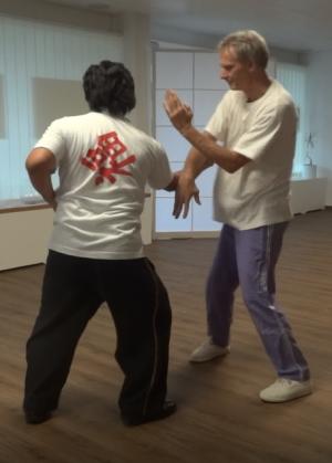 Abwehr eines Angriffs mit Wing Chun Kung Fu