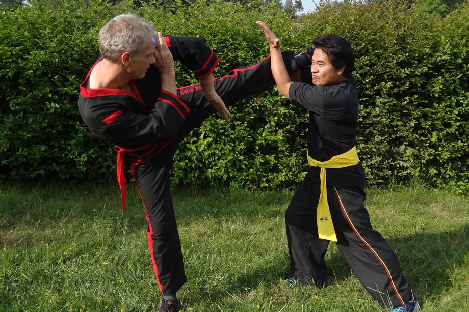 Wing Chun Kung Fu, Abwehr eines fiktiven Angriffs